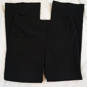 Elie Tahari Flare Leg Black Dress Pants Size 8